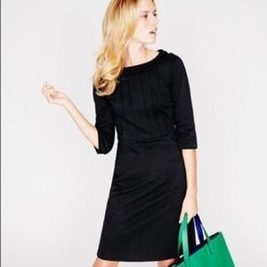 Boden Alexa Dress Retro Black Ponte Knit